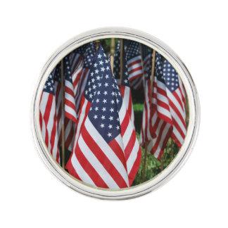 American Flags Lapel Pin