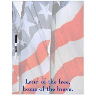 American Flags Large Dry Erase Board