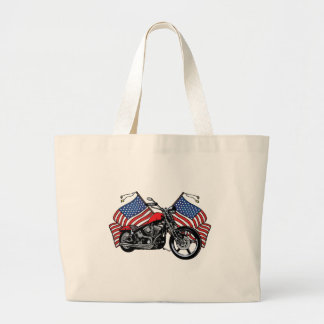 American Flags Motorcycle Canvas Bags
