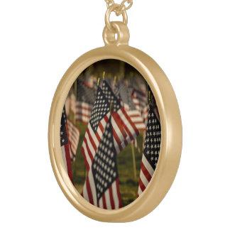 American flags pendant