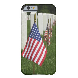 American flags on tombs of American Veterans on 2 Barely There iPhone 6 Case
