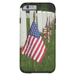 American flags on tombs of American Veterans on 2 Tough iPhone 6 Case