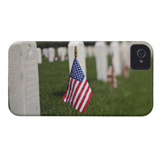 American flags on tombs of American Veterans on Case-Mate iPhone 4 Cases