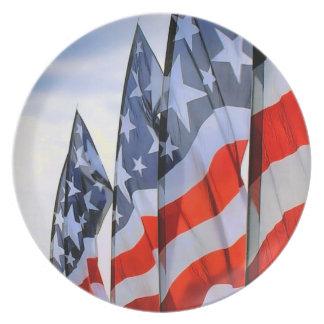 American Flags Dinner Plate