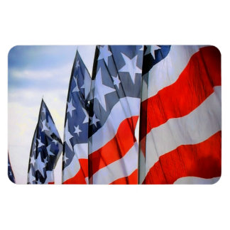 American Flags Flexible Magnets