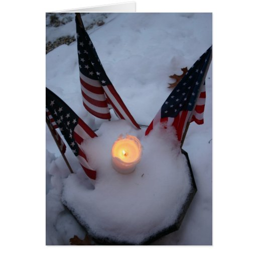 American Flags with Candle Cards