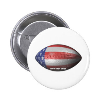 American Football Pinback Buttons