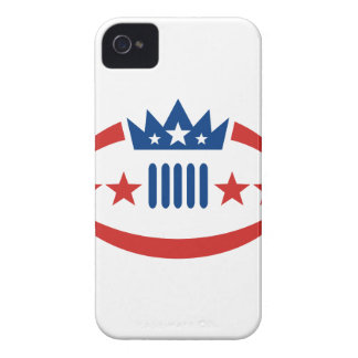 American Football Ball Crown Star Icon Case-Mate iPhone 4 Case