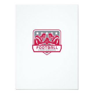American Football Championship Crest Retro Card
