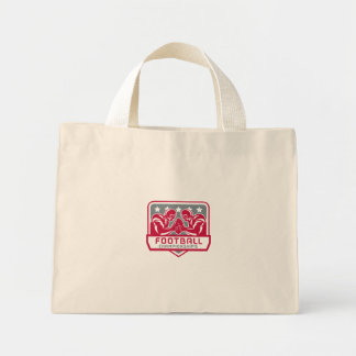 American Football Championship Crest Retro Mini Tote Bag