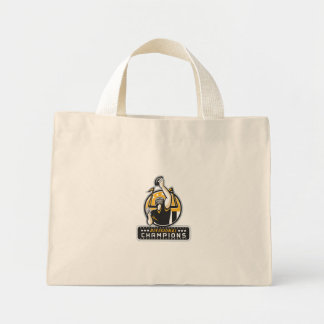 American Football Divisional Champions Retro Mini Tote Bag