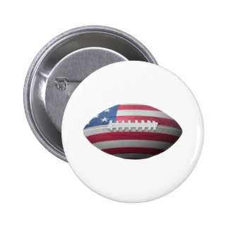 American Football Flag 6 Cm Round Badge