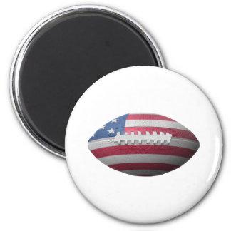 American Football Flag 6 Cm Round Magnet