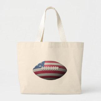 American Football Flag Tote Bags