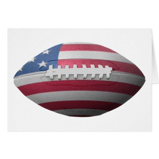 American Football Flag Card