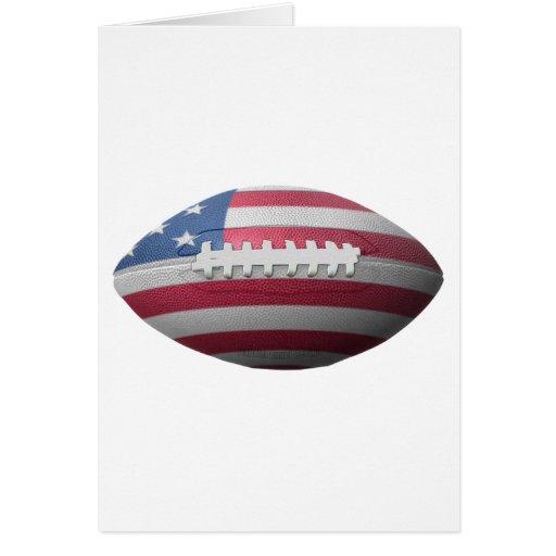 American Football Flag Greeting Card