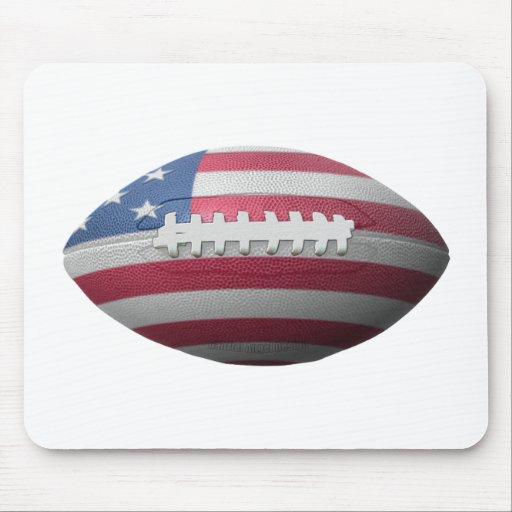 American Football Flag Mouse Pad