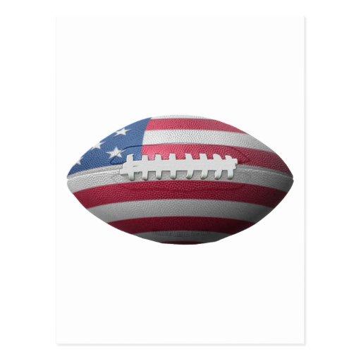 American Football Flag Post Card