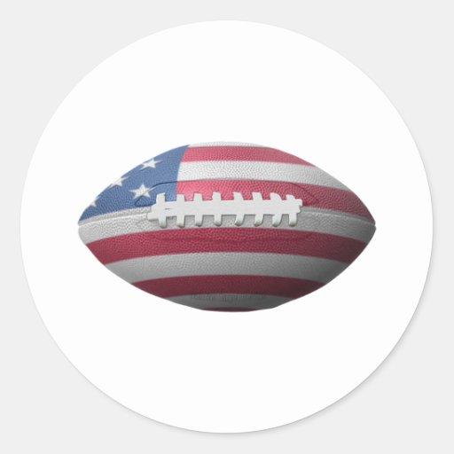 American Football Flag Round Sticker