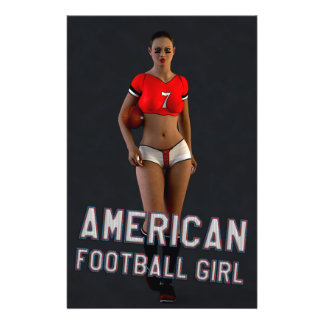 American Football Girl Chablis 14 Cm X 21.5 Cm Flyer