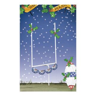 american football happy holiday stationery