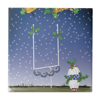 american football happy holiday tile
