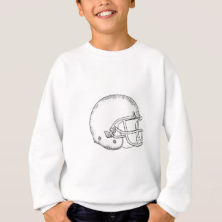 American Football Helmet Black and White Drawing Sweatshirt