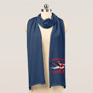 American Football Jersey Knit Scarf Amerian Flag