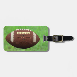 American Football Or Rugby Ball Luggage Tag