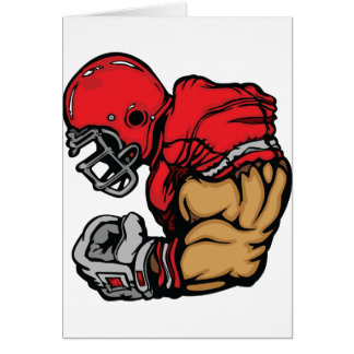 American Football Player Greeting Cards