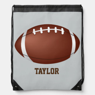 American football rugby name customize drawstring bag
