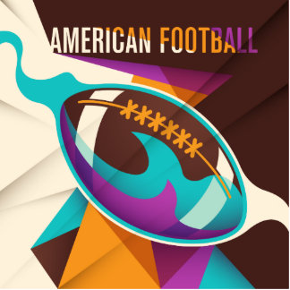 American Football Sport Ball Abstract Photo Sculpture Magnet