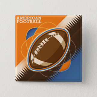 American Football Sport Ball Game 15 Cm Square Badge