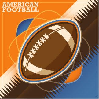 American Football Sport Ball Game Photo Sculpture Magnet