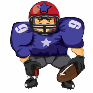 American Football Star Standing Photo Sculpture