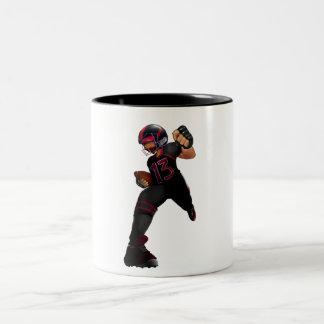 American football to player for kids. Two-Tone coffee mug