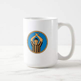 American Football Umpire Hand Signal Circle Mono L Coffee Mug