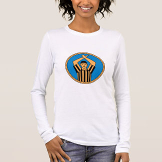 American Football Umpire Hand Signal Circle Mono L Long Sleeve T-Shirt