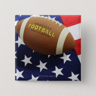 American football with the US flag 15 Cm Square Badge