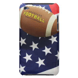American football with the US flag Barely There iPod Case