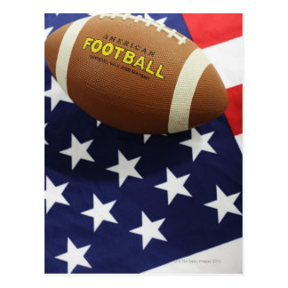 American football with the US flag Postcard