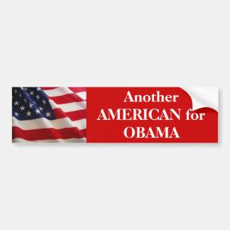 American for Obama Bumper Sticker
