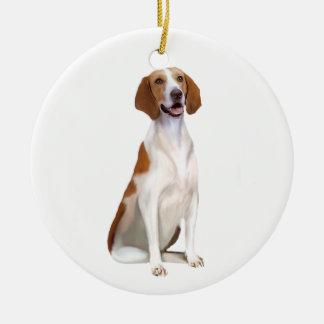 American Foxhound (A) Ceramic Ornament