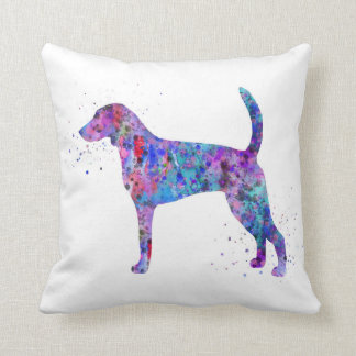 American foxhound, American foxhound watercolor Cushion