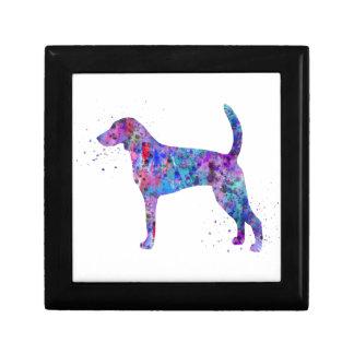 American foxhound, American foxhound watercolor Gift Box