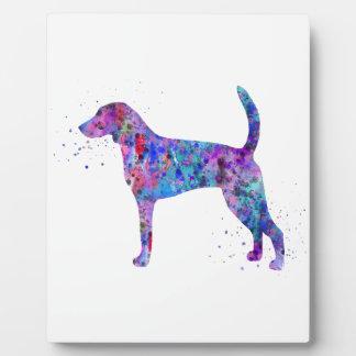 American foxhound, American foxhound watercolor Plaque