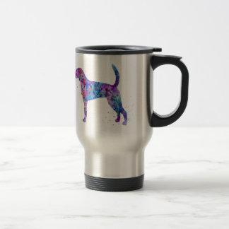 American foxhound, American foxhound watercolor Travel Mug