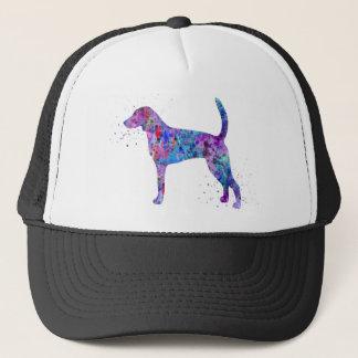 American foxhound, American foxhound watercolor Trucker Hat
