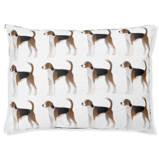 American Foxhound Basic Dog Breed Illustration Pet Bed