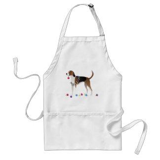 American Foxhound Christmas Design Standard Apron